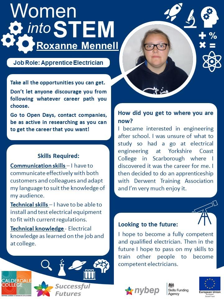 Apprentice Electrician - Roxanne Mennel