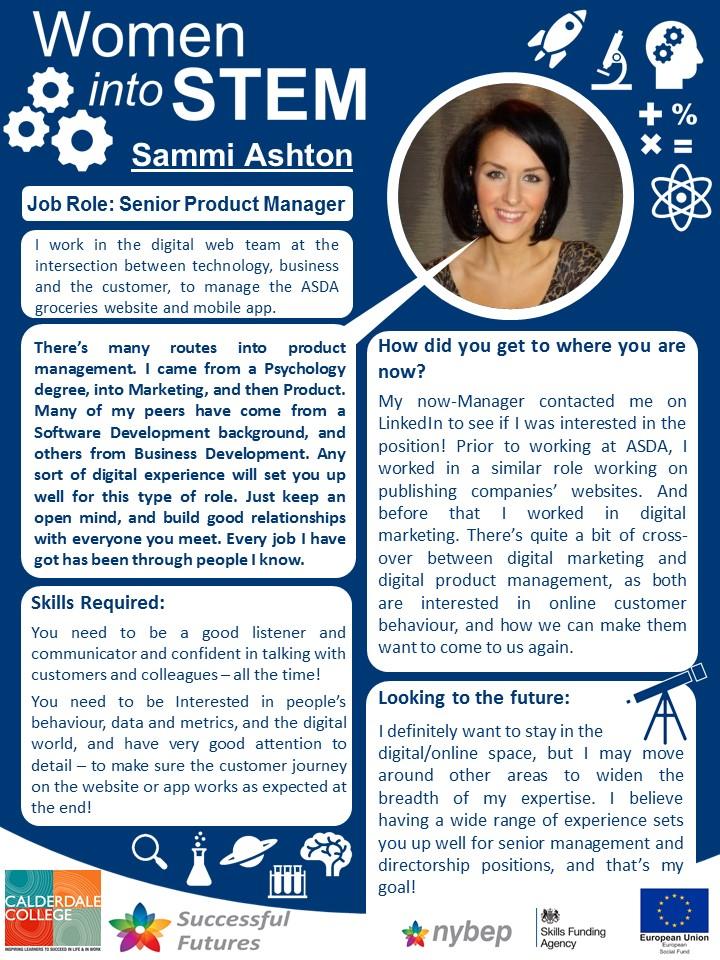 Senior Product Manager - Sammi Ashton