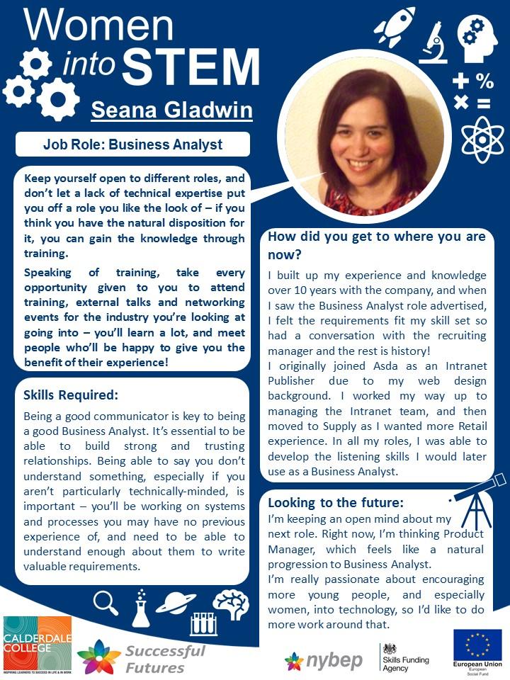 Busines Analyst - Seana Gladwin